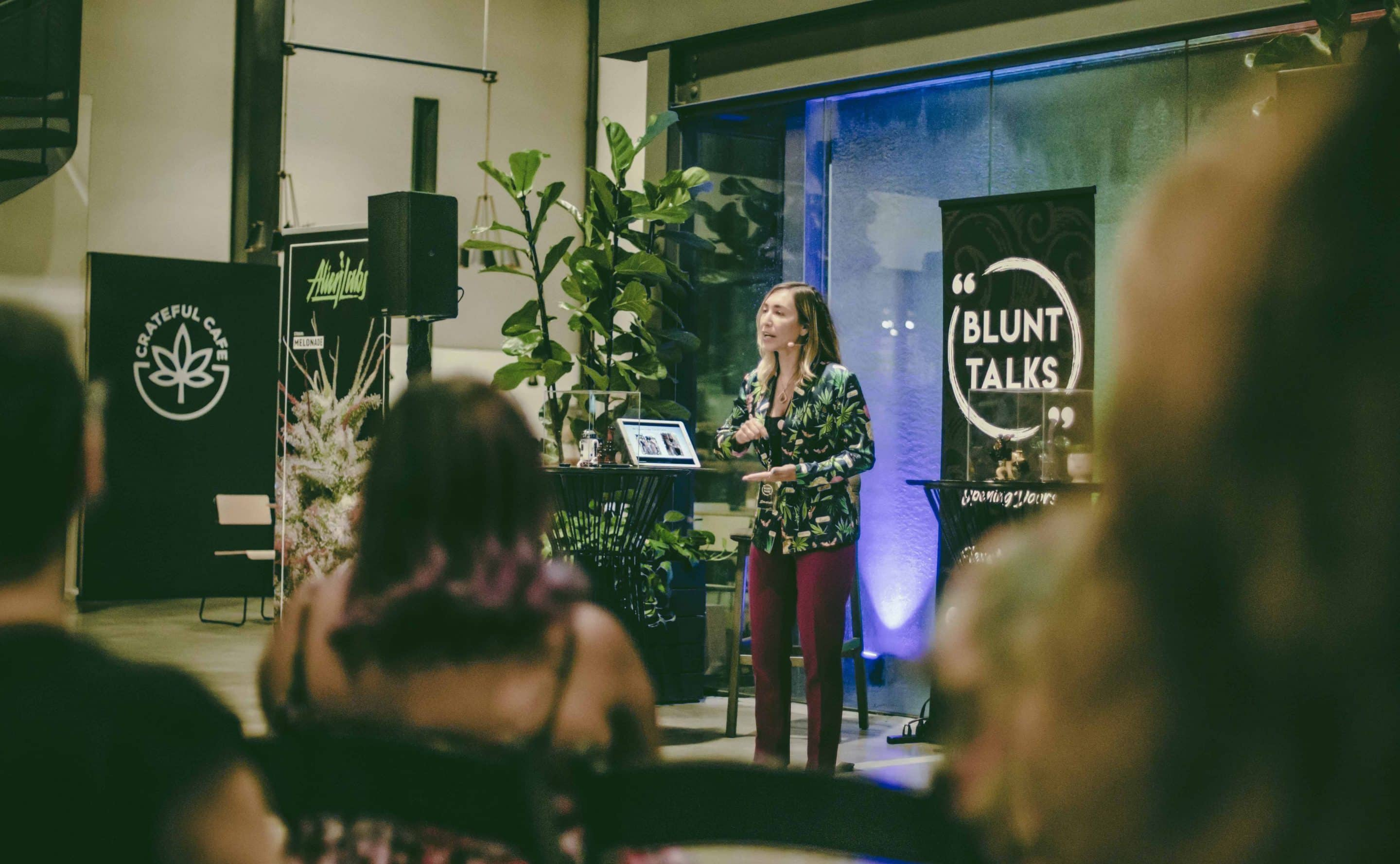 An expert in cannabis business law, Ariel Clark took her time at the event to discuss the importance of mentoring. Two of the girls she mentored were at the event, including Blunt Talks Director of Operations, and co-host for the evening, Nichole West.