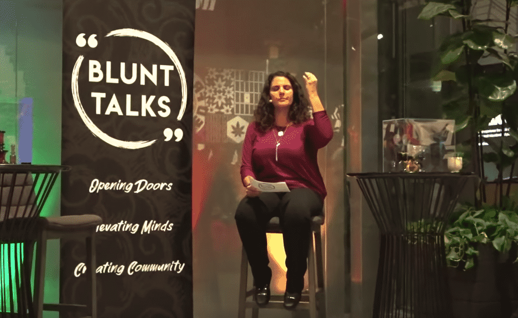 A certified yoga instructor and holistic wellness professional, as well as the CEO of Higher Way Travel, April Black led the audience in a brief meditation about halfway through Thursday night's event.